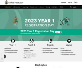 Ri.edu.sg - Raffles Institution