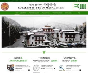 Rim.edu.bt - Royal Institute of Management | Management for Growth and Development
