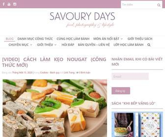 Savourydays.com - Blog - Savoury Days