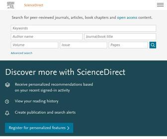 Sciencedirect.com - ScienceDirect.com | Science, health and medical journals, full text articles and books.