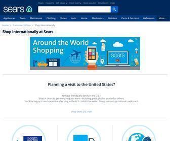 Sears.com - Shopping Tourism: Shop Internationally at Sears