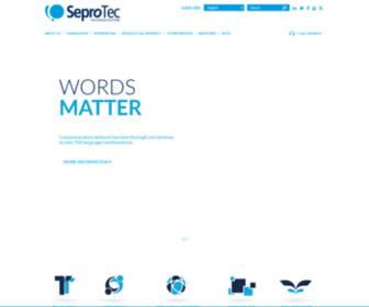 Seprotec.com - SEPROTEC   Multilingual Solutions