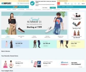 Shopclues.com - Online Shopping Site India: Buy Mobiles, Electronics, Fashion, Clothing, Shoes, Laptops, Tablets at Best Prices - ShopClues.com