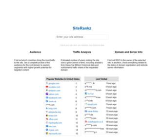 Siterankz.com - Check Site Rank, PageRank, SEO Statistics, and Alexa Top Million Historical Data