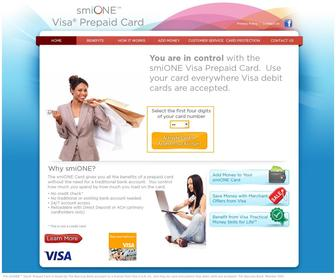 Smionecard.com - smiONE(TM) Visa Prepaid Card