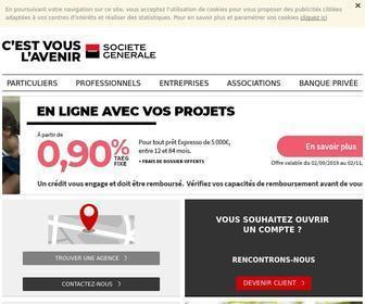 Societegenerale.fr - Banque en ligne Société Générale : services bancaires pour les particuliers, les professionnels, les entreprises, les associations