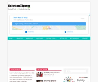 Solutiontipster.com - SolutionTipster - Football Pools and Online Betting Blog  : SolutionTipster