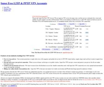 Super free l2tp & pptp vpn accounts
