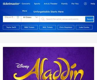 Ticketmaster.com - Tickets for Concerts, Sports, Arts, Theater, Family, Events, more. Official Ticketmaster site
