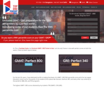 Top-one-percent.com - Top One Percent-GMAT Coaching Classes, GMAT Courses Online, GMAT Institutes, GMAT Preparation Coaching Center in Bangalore, GMAT Preparation Tips,Best & Top GMAT Training Institute in Bangalore, Delhi, India.
