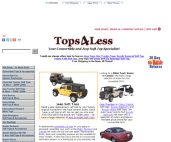 Tops4less.com - Jeep Accessories - Jeep Tops - Jeep Parts - Suzuki Top - Tracker Top