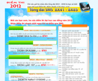 Tracuudiemthidaihoc.net - Tra Cuu Diem Thi Dai Hoc - Xem Diem Thi Dai Hoc Nam 2013