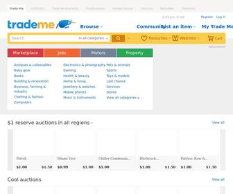 Trademe.co.nz - Buy online and sell with NZ's #1 auction & classifieds site | Trade Me