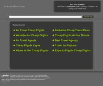 Travelated.com - travelated.com-&nbspThis website is for sale!-&nbspcheap flights Resources and Information.