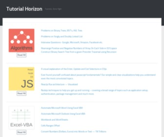 Tutorialhorizon.com - TutorialHorizon | Home