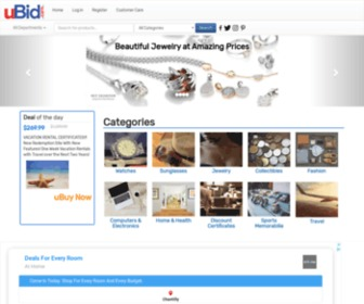Ubid.com - uBid: where you win at paying less   Computers   Electronics   Watches   Jewelry   Fine Art   Sports   Collectibles   Home Goods   Travel   Fashion   Kitchen   Outdoor Home