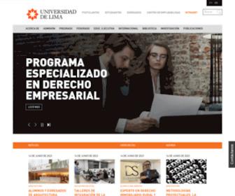 Ulima.edu.pe - Inicio | Universidad de Lima