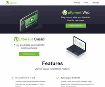 Utorrent.com - μTorrent® (uTorrent) - a (very) tiny BitTorrent client