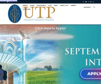 Utp.edu.my - Welcome to UTP Main Website
