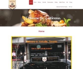 Vaticano.ca - Vaticano Italian Restaurant Toronto|25 Bellair St Yorkville