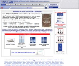 Verrerie-laboratoire.com - Societe Techlab : Accueil Verrerie de Laboratoire