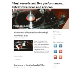 Vinyl-blog.com - Vinyl Blog