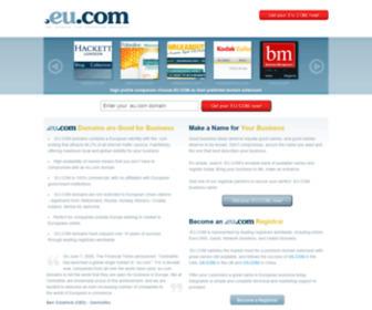 Eu.com - Register a .EU.COM domain today!