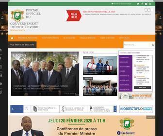 Gouv.ci - Côte d'Ivoire - Portail officiel du Gouvernement - www.gouv.ci