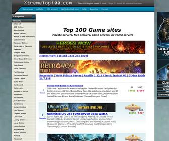 Xtremetop100.com - XtremeTop100   Top 100 Gaming - Private Servers List