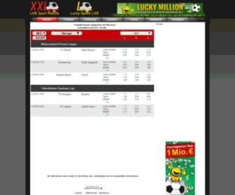 Xxlscore.de - Live Sportergebnisse aktuell: Fußball, Bundesliga, Tennis, Handball, Basketball, Eishockey, Volleyball ...