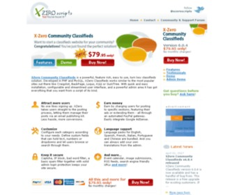 Xzeroscripts.com - XZero Community Classifieds: Start your own community classifieds site similar to Craigslist/BackPage/Loquo/Kijiji/GumTree today swith our powerful, feature rich, easy to use, turn key classifieds script! - XZero Scripts: PHP+MySQL Scripts. Yes! You've fo