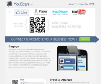 Youscan.me - YouScan.me QR Code Generator - Create Personal or Social Dynamic QR Codes