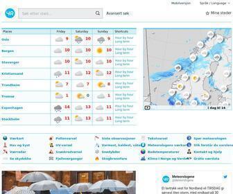 Yr.no - Yr – Været for Norge og verden fra NRK og Meteorologisk institutt
