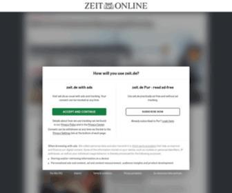 Zeit.de - ZEIT ONLINE   Nachrichten, Hintergründe und Debatten